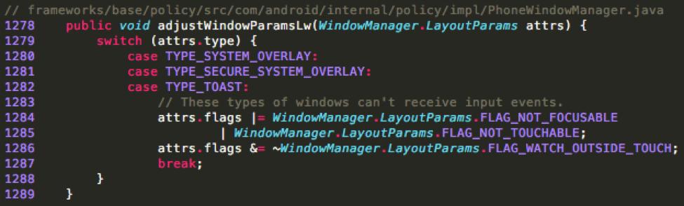 "【技術分享】Android Toast Overlay攻擊:無需任何權限的""Cloak and Dagger"""