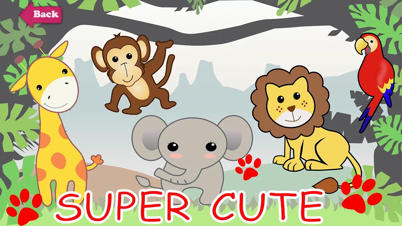 「快乐动物园」依照动物属性共分为三种情境:丛林、雪地、农场。引导小宝贝认识各种动物形态及辨别不同动物叫声。藉由与超萌的可爱动物互动,让孩子们初步认识并喜爱动物!启发小宝贝对自然的探索及提高好奇心,有助于训练观察力、感受力、手眼耳协调性以及爱护动物的态度!