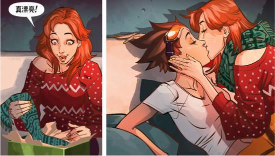守望先锋圣诞猎空漫画彩蛋:有人抢你老婆!