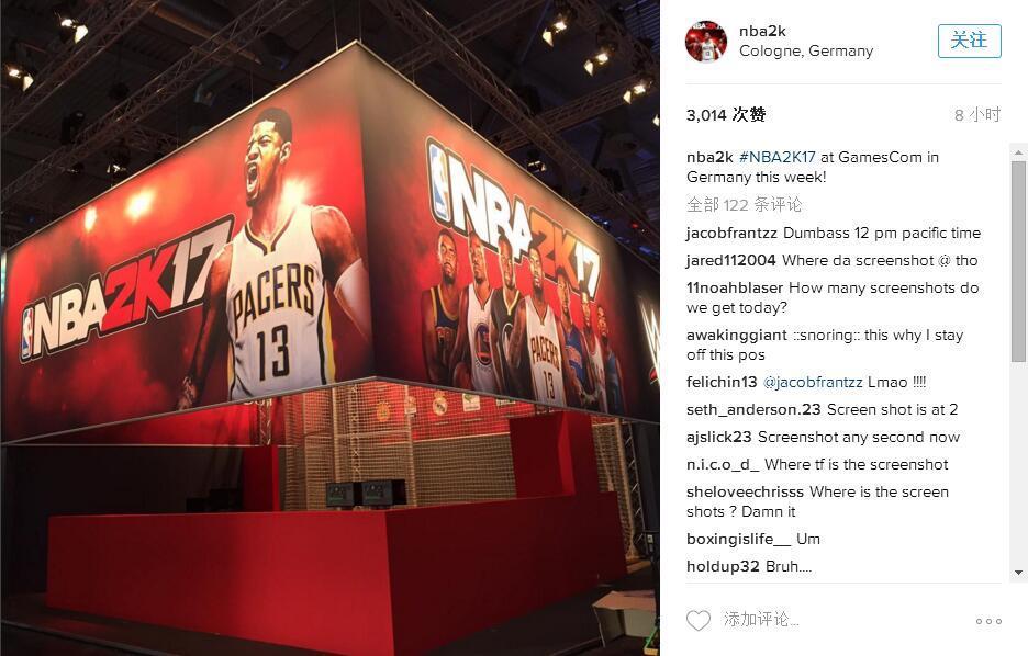 《NBA 2K17》现身2K科隆展台