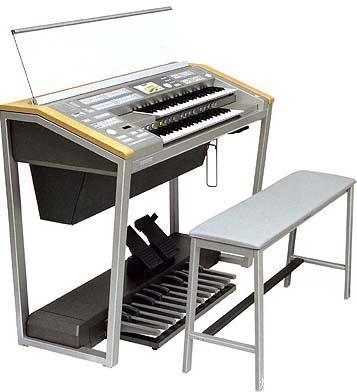 电子管风琴的简介  电子管风琴(双排键电子琴),起源于管风琴.图片