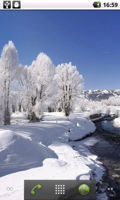 唯美雪景动态壁纸_360手机助手