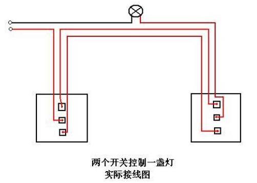 两个开关控制一个灯_位置灯开关标志_带灯开关接线图
