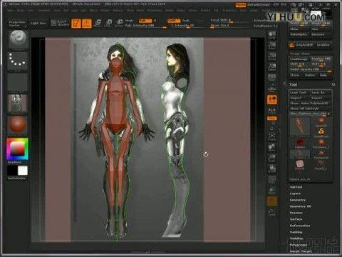 maya女性角色建模 高清图片