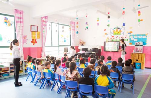 幼儿园老师正在上课(图片来自网络)