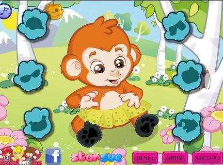可爱猴宝宝