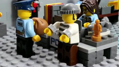 《乐高城市》警察局射击练习,警察叔叔果然是神枪手!