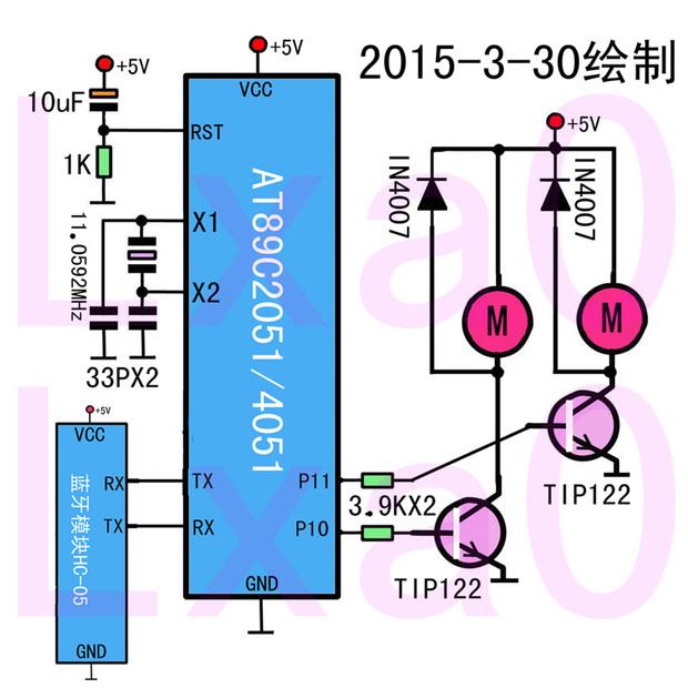 如何用51单片机控制l298驱动电机