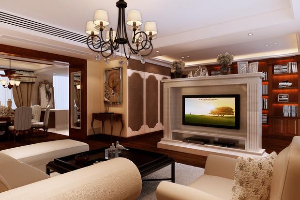 我家电视背景墙,设计师说用爵士白大理石做