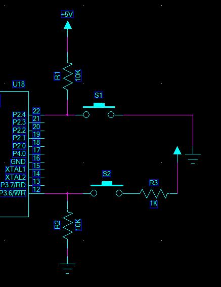 这和按键按下的时候单片机io口的电平有关系
