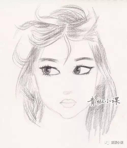 手绘发型设计图铅笔画分享展示