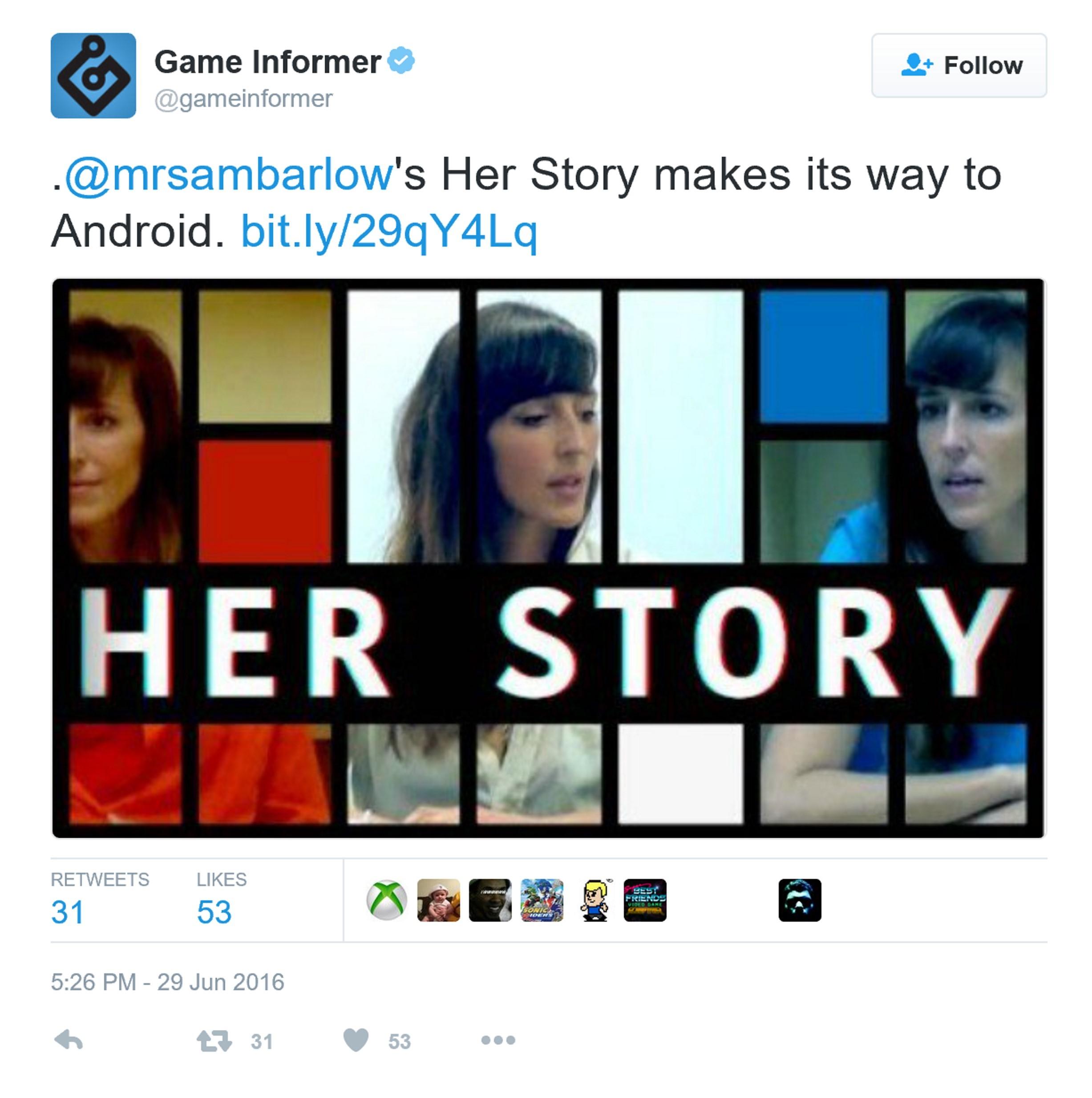 《她的故事》手游推安卓版