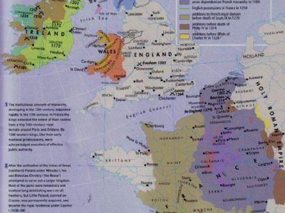 14世纪 初,英国仍占据法国南部阿基坦地区
