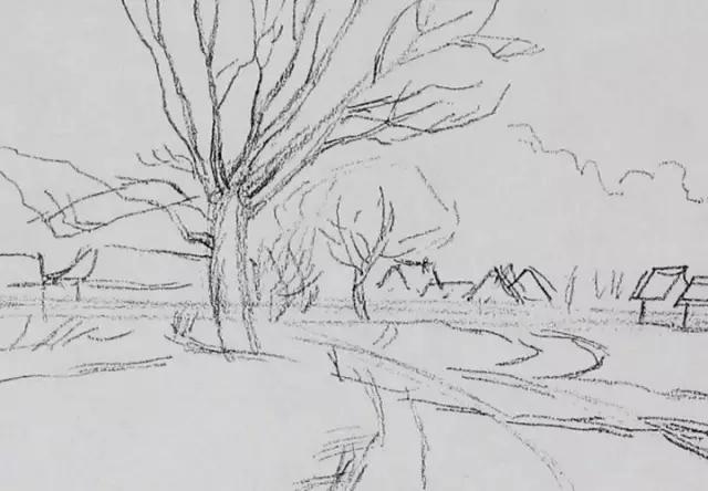 风景素描 | 精炼的作画步骤,适合初学者so easy!