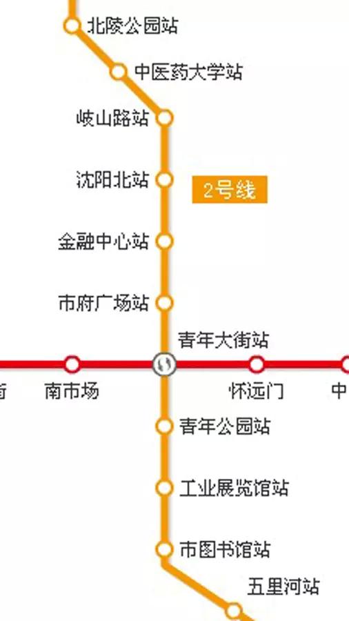 沈阳地铁路线图