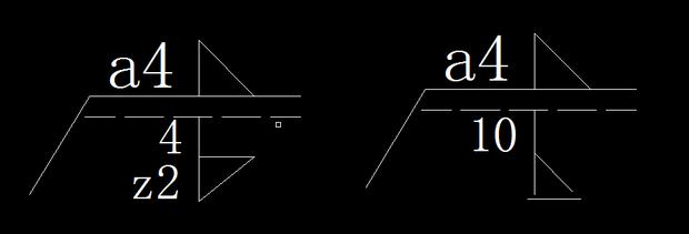 刚接到图纸,请问这两个焊接符号的具体意思是什么,请详细一些,如a4,z2