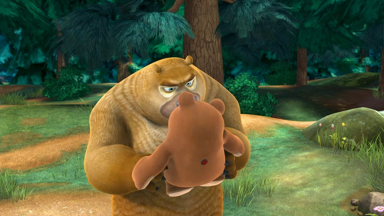 熊二捡到玩偶呆呆熊,还以为是真熊跟他交朋友!