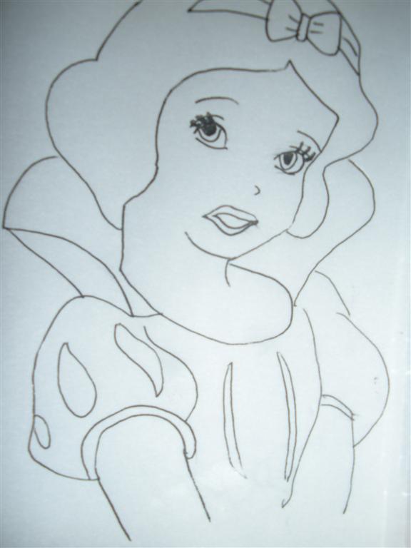 白雪公主简笔画怎么画