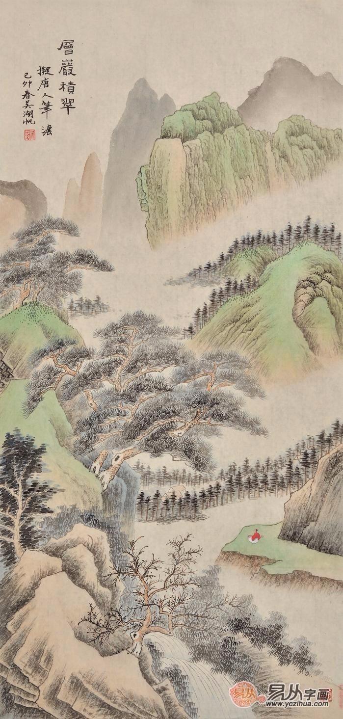进门玄关挂画选山水画,名家手绘好风景