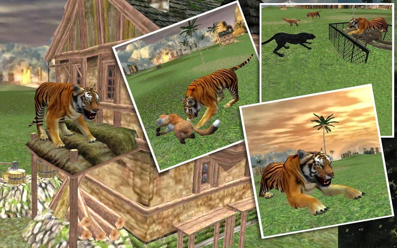 感受挑战和兴奋的新的动物模拟3d游戏野生丛林老虎