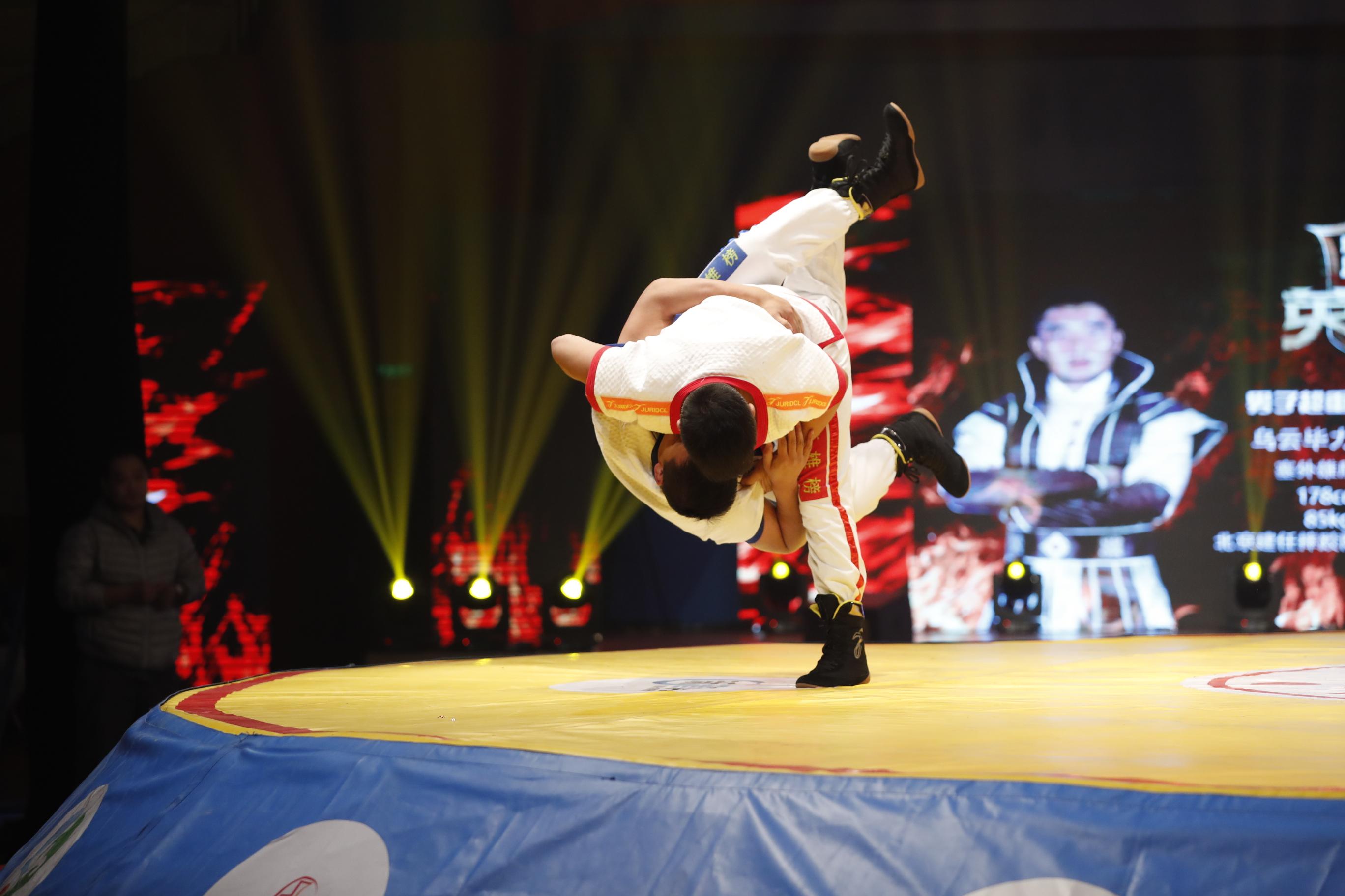 跤坛英雄榜第三轮第二男子90KG