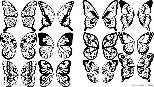 如何画蝴蝶