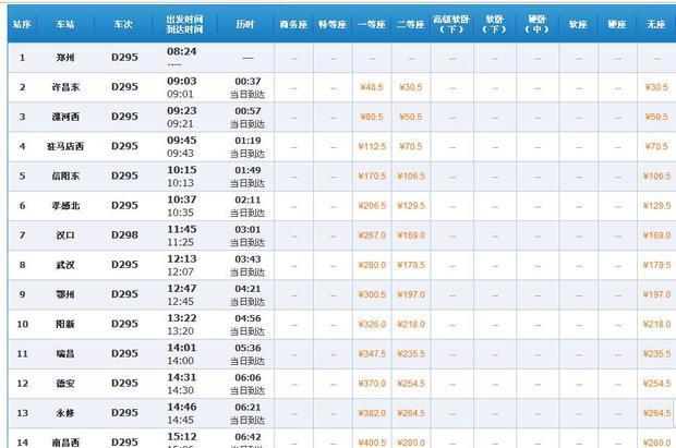 坐d295列车从漯河到南昌在哪坐车啊