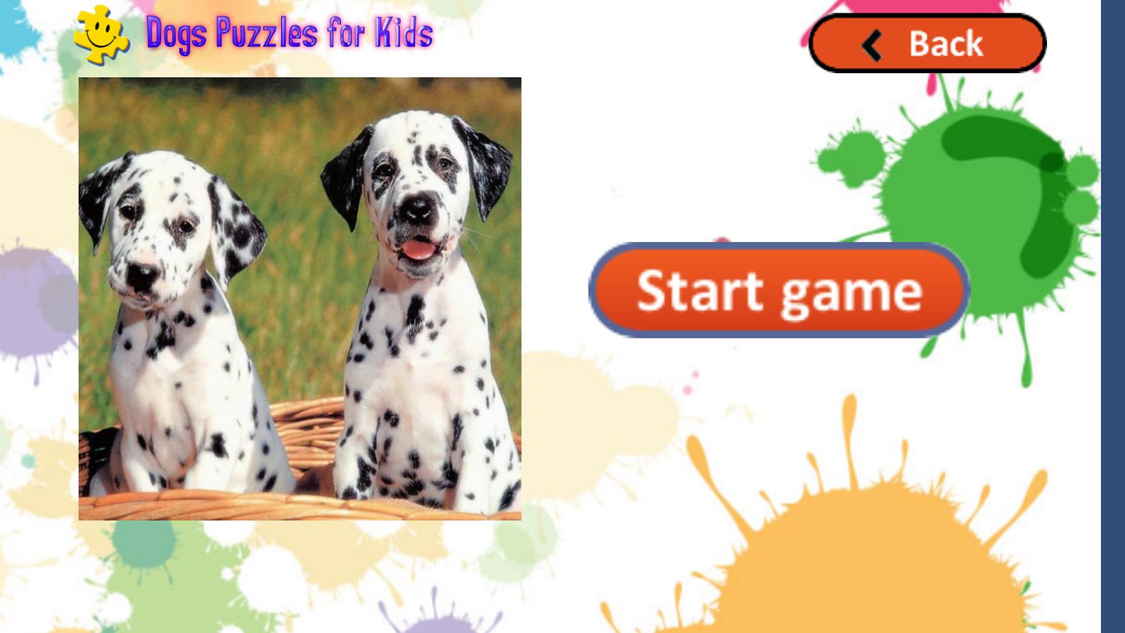 他们将享受解决拼图与可爱的小狗照片