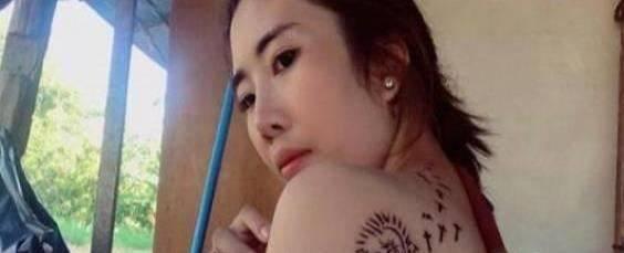 4块钱的纹身店也敢进?泰国姑娘贪便宜结果被丑哭了_图1