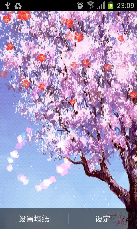 飘落紫色花瓣素材