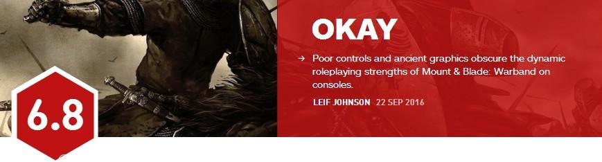 骑马与砍杀战团主机版IGN评分