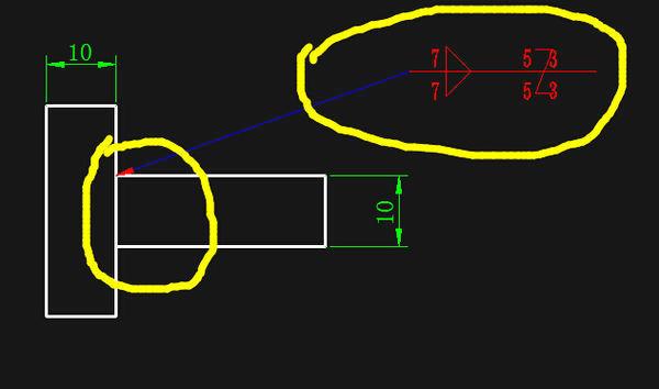 在CAD图中焊接标注符号_360接线照明灯cad问答图图片