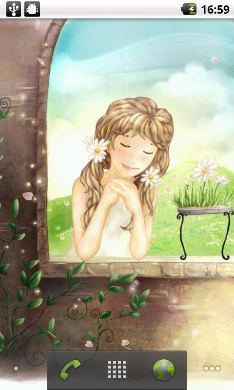 手绘少女动态壁纸
