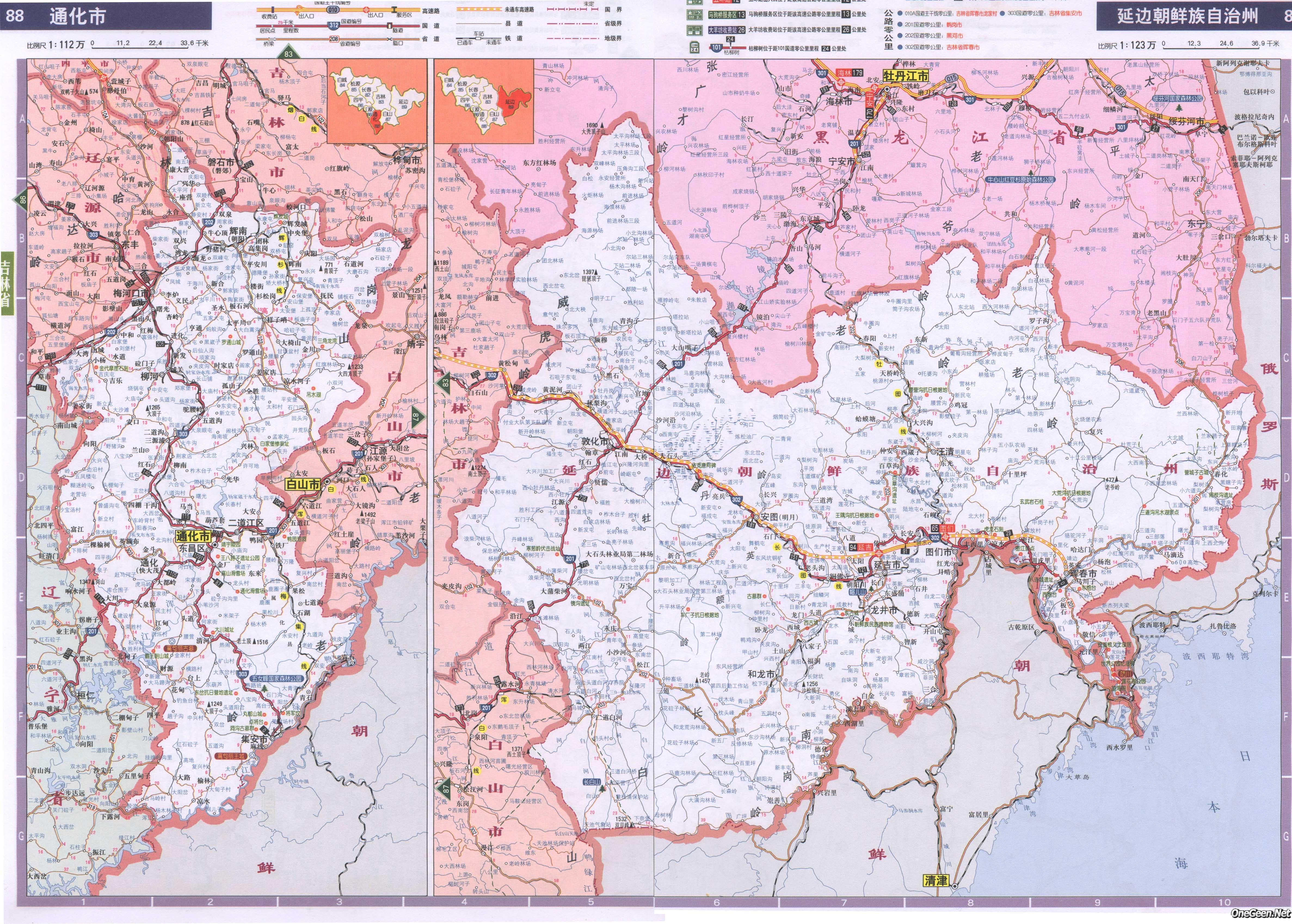通化通化市行政区划图