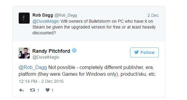 Randy Pitchford的回应