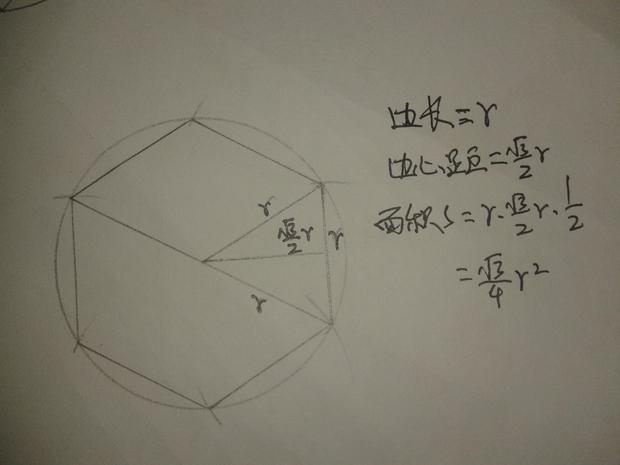 分别求半径为r的园内接正三角形,正方形,正六边形的边长,边心距和面积