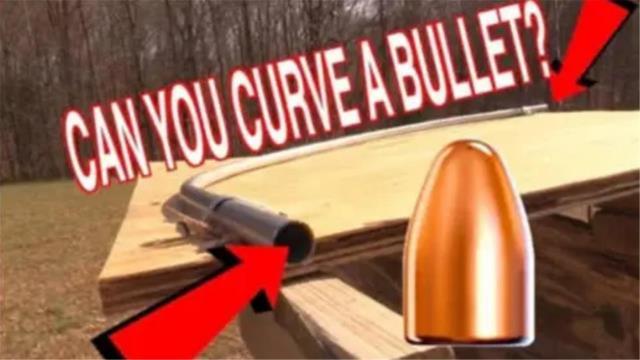 子弹射进90度弯的钢管之中能拐弯吗?牛人亲测,结果无法置信!