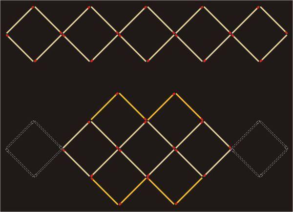 用二十根火柴用20根火柴摆出5个正方形,移动8根火柴,使它变成9个正