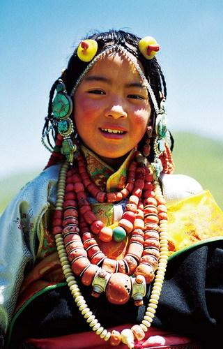 藏族母亲节手绘图