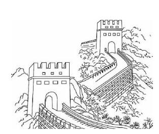 长城简笔画怎么画