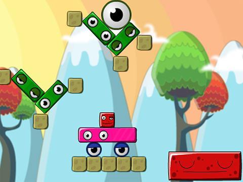 怪物岛上的红方块; 怪物岛上的红方块小游戏;; 0吵醒大红方块选关版