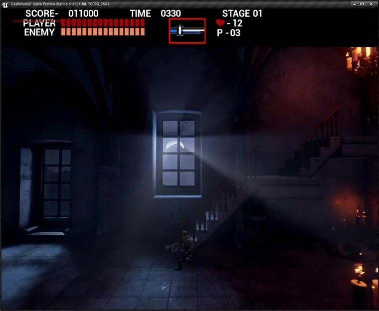 虚幻4重置版《恶魔城》游戏画面