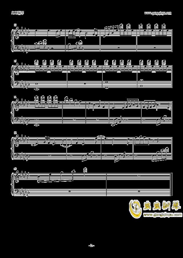 帮我从钢琴谱转化为数字简谱