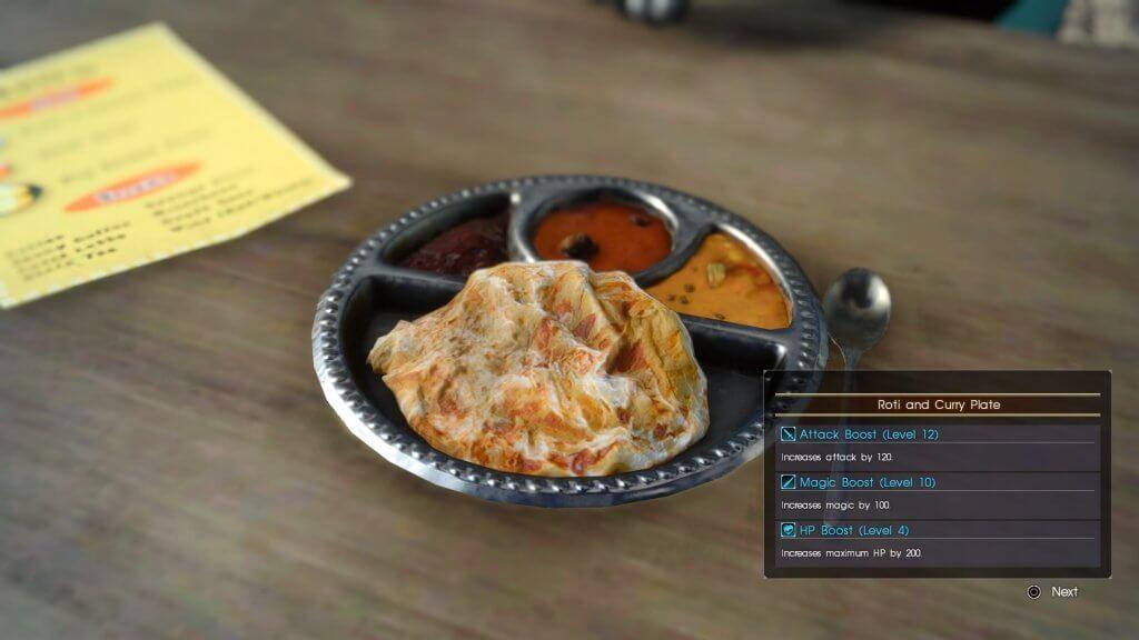 《最终幻想15》游戏中美食还原度爆表