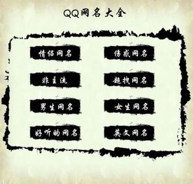 QQ网名大全