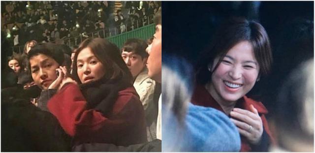 宋慧乔发图点赞IU演唱会双宋整晚甜蜜对视笑不停