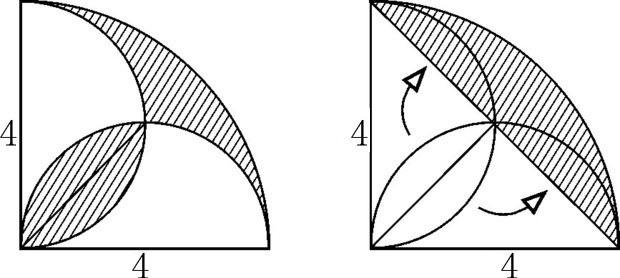 六年级 数学 圆形面积 求阴影部分面积 很难得题