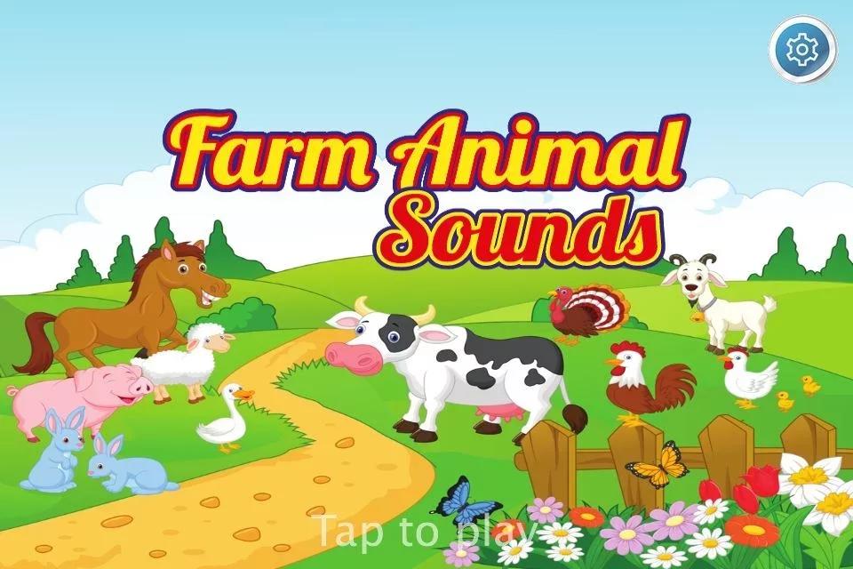 配备高清可爱的动物,真正的农场动物的卡通图形听起来这个游戏保证了
