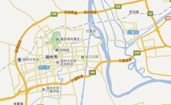 江都大桥镇地图