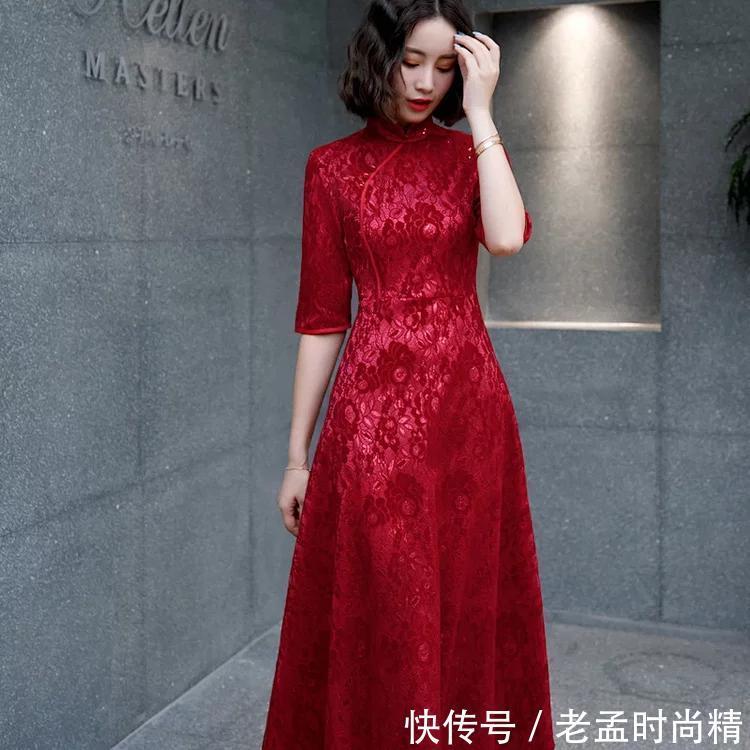 白羊座女性专属旗袍, 火辣辣的红色很诱惑!